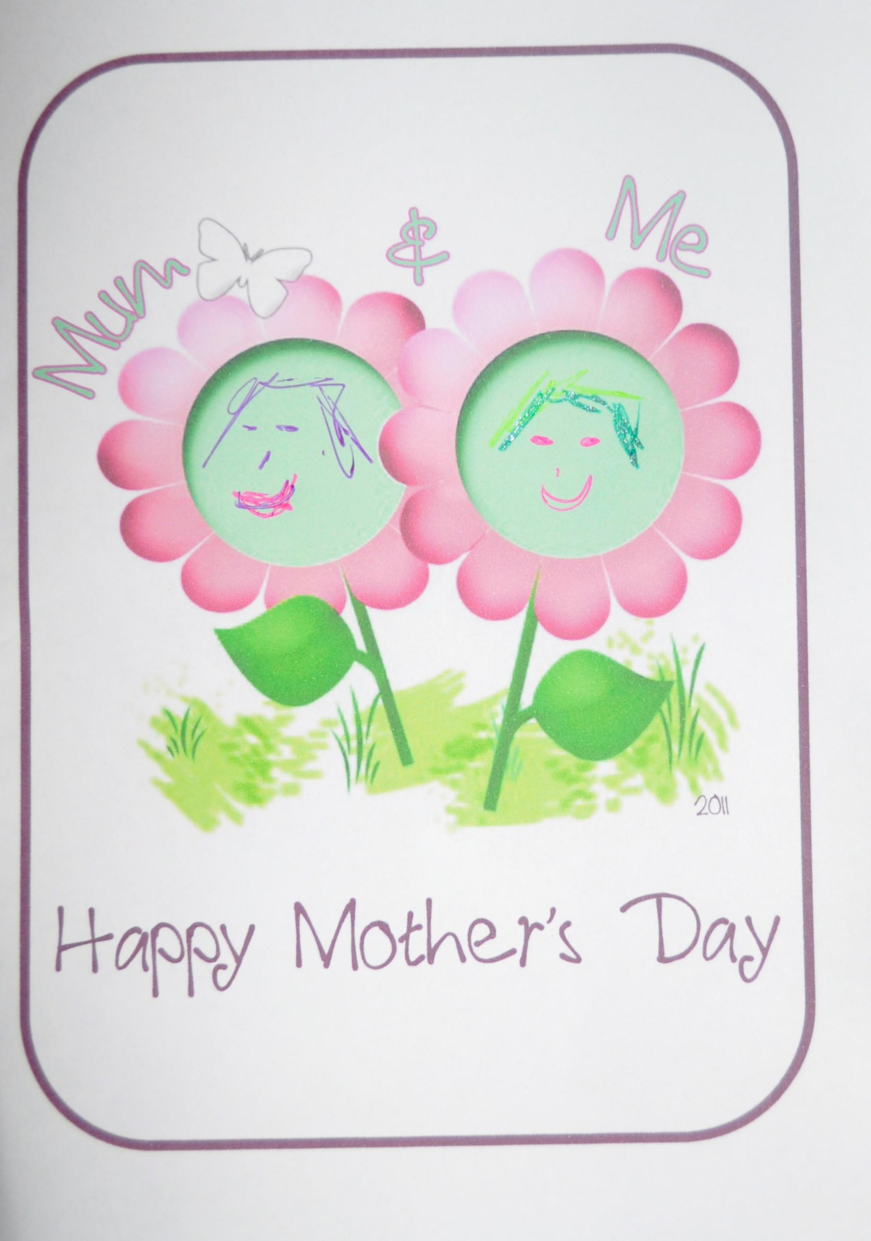 mother's day craft mum and me card  be a fun mum