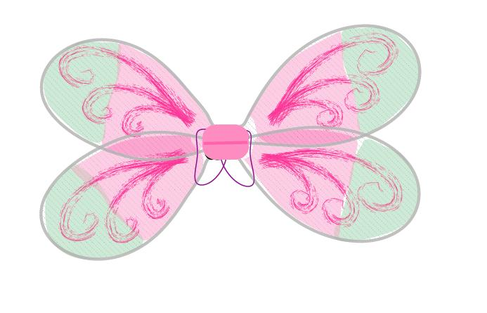 how to make fairy wings step 6