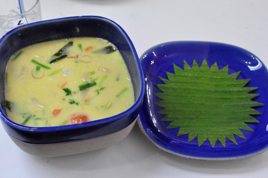 Thai Coconut Soup Recipe complete
