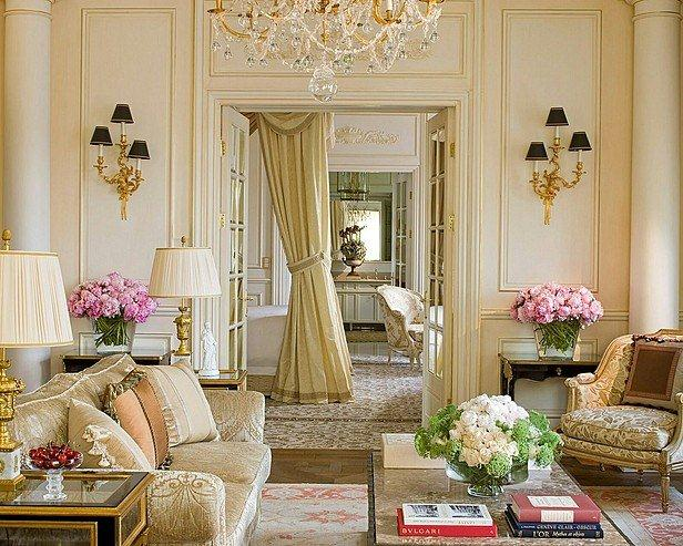 Attractive French Design: Living Room Decorating Ideas Elegant Interior Design French  Room Light Colors Eclectic Home