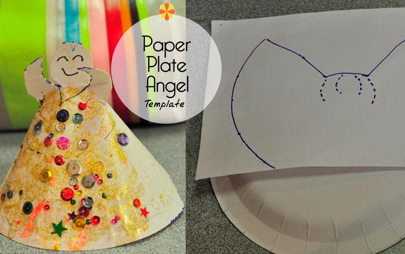 paper plate angel template - beafunmum.com