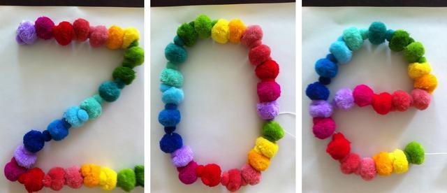rainbow letters for a rainbow room
