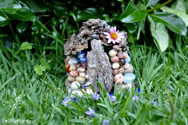 pebble fairy house
