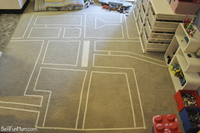fun for kids -- masking tape road