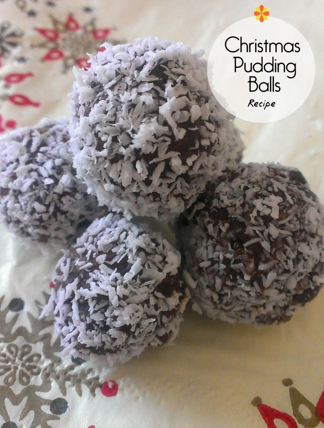 christmas pudding balls recipe - on beafunmum.com
