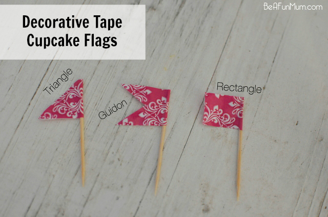 Decorative cupcake flag topper flags