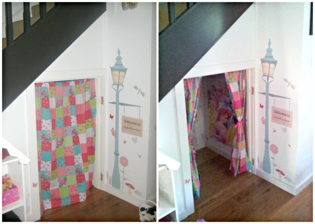 Under stairs cubby house - convert the space into a cosy area for kids to play