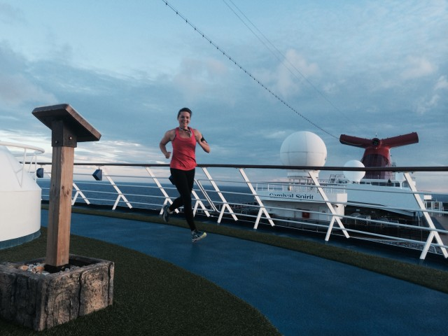 running on a cruise ship
