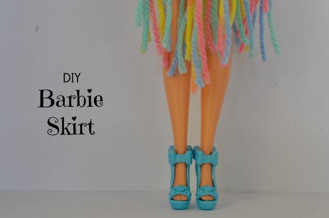 Diy No Sew Ribbon Barbie Doll Skirt Be A Fun Mum