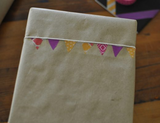 Bunting Wrapping Paper