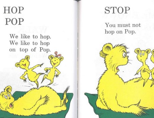 Hop on Pop, Stop, you must not hop on pop