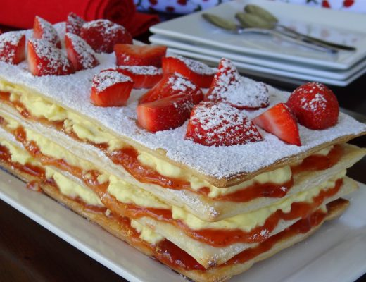 Vanilla and Strawberry Stack