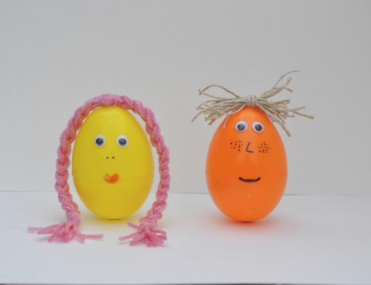 Decorate Plastic Easter Egg - Easter Egg Faces
