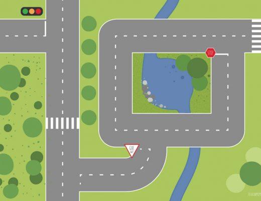 Printable Play Mat: Road