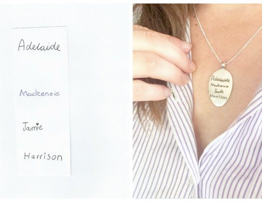 uberkate necklace - turn your child's handwriting into a necklace