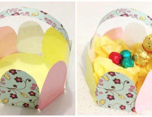 Paper Easter Egg Basket Craft