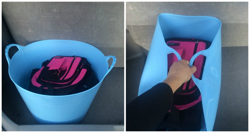 Rubber tubs are useful for the car. Keep the in the boot filled with stuff and it's easy to take it out.