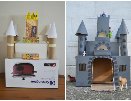 how to make your own castle out of empty boxes