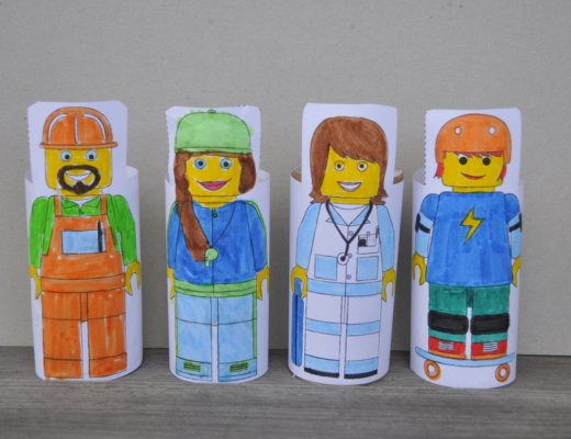 Block People - printable to wrap around toilet rolls
