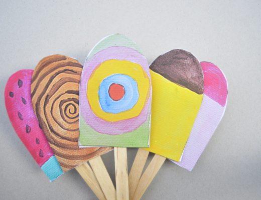 Paper Popsicles ice cream- printable