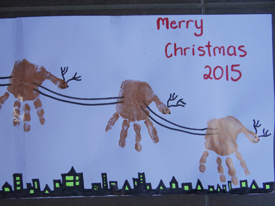 Christmas craft hand feet painting be a fun mum for Hand and feet painting ideas