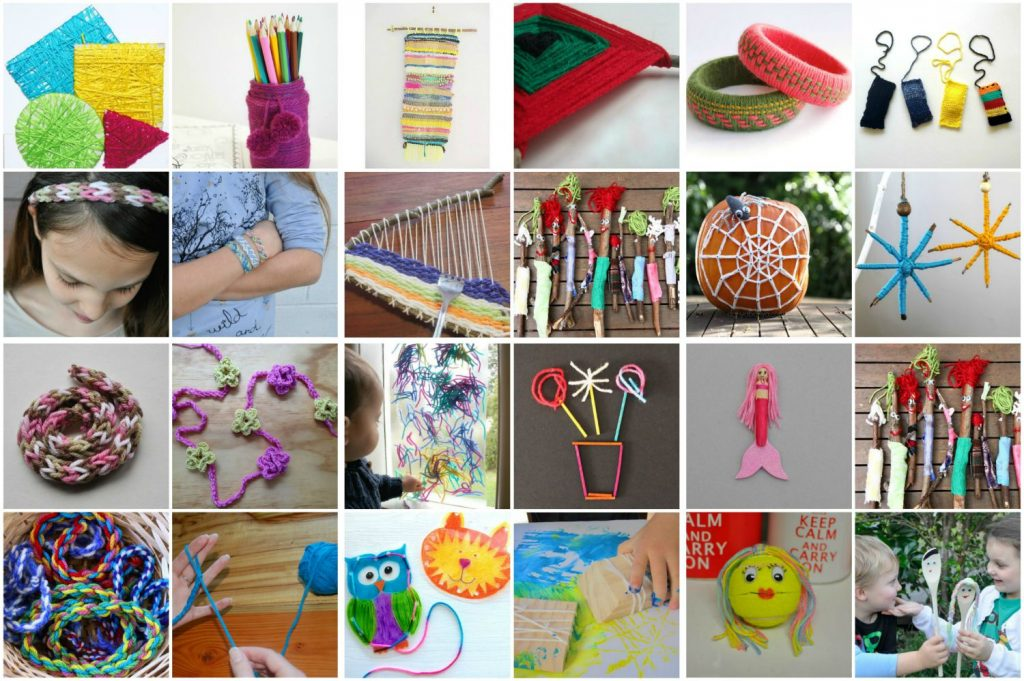 Lots Of Lovely Things For Kids To Make With Wool Be A