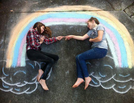 Chalk Scenes - rainbow