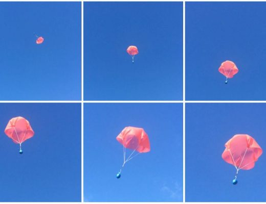 How to make and fly a mini parachute made from a cheap thin plastic tablecloth
