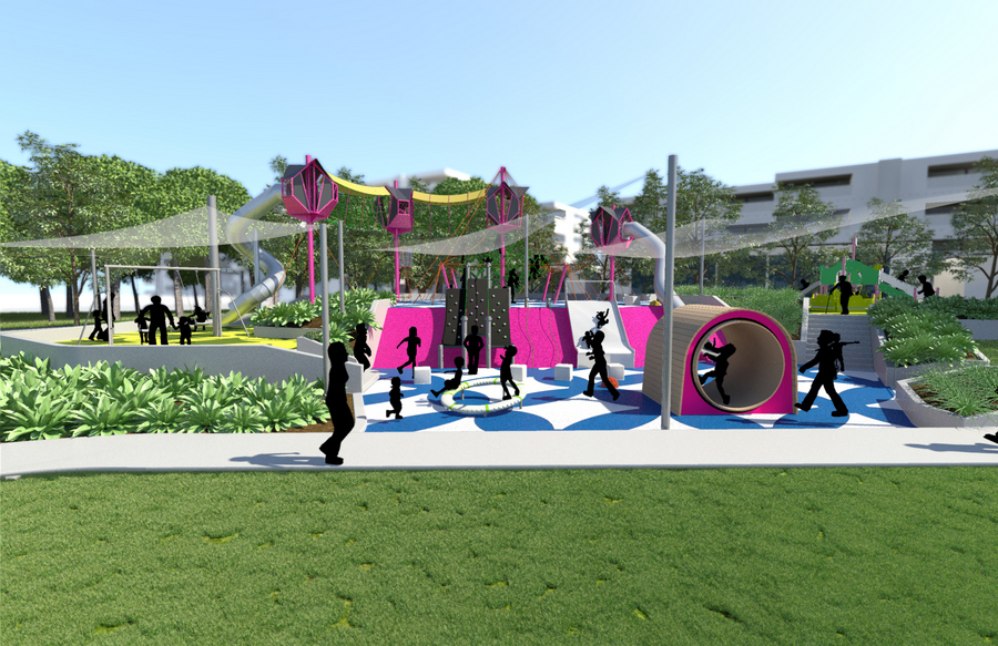 New Playground South Bank Parklands Brisbane Fun Mum
