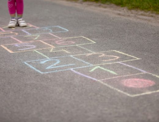 chalk games - hopscotch