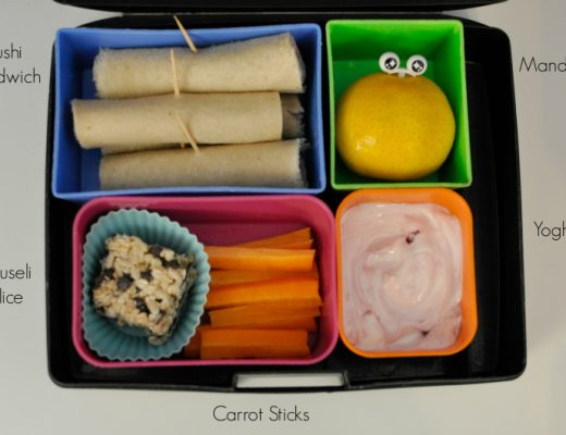 Lunch box idea - sushi sandwiches