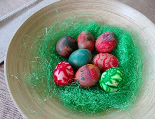 Easter Egg Craft - how to decorated boiled eggs