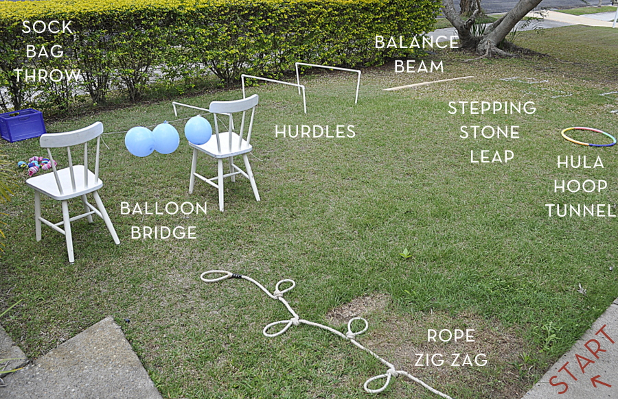 backyard obstacle course map
