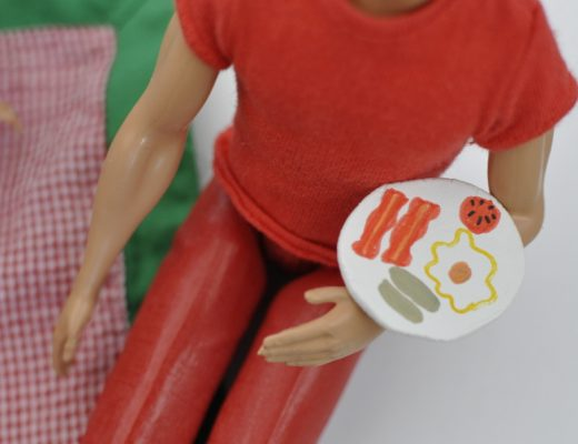 mini ceramic plate for play