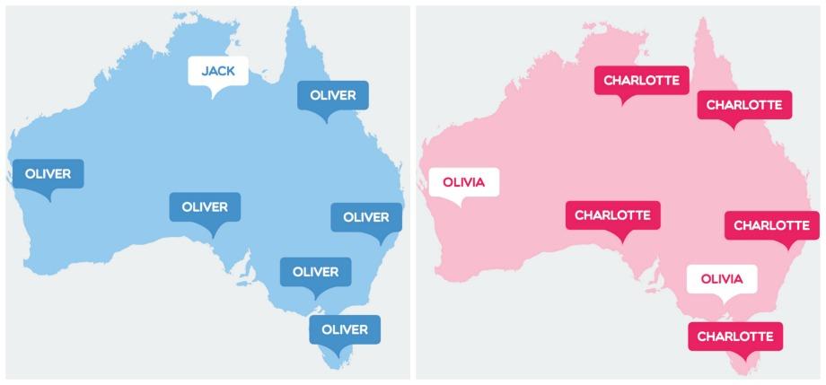 Baby name popular australia 2016