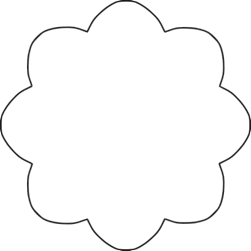 basic flower stencil shape