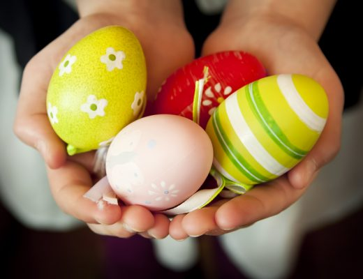 Coloured Eggs - decorated
