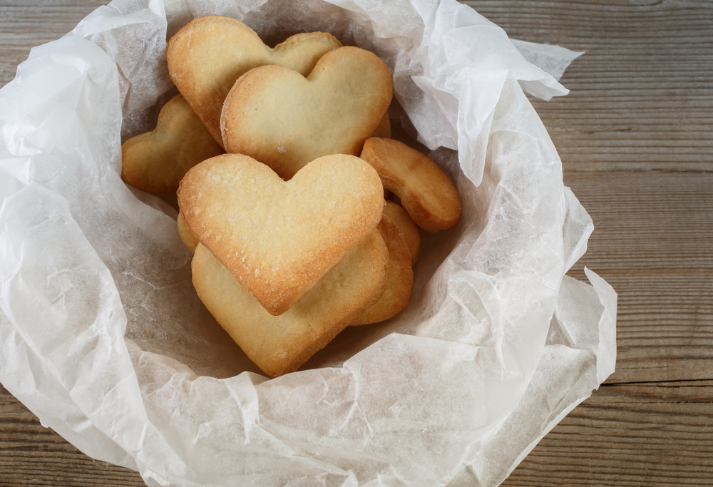 Heart Shaped Shortbread Cookies