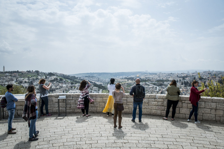 The view overlooking Jerusalem