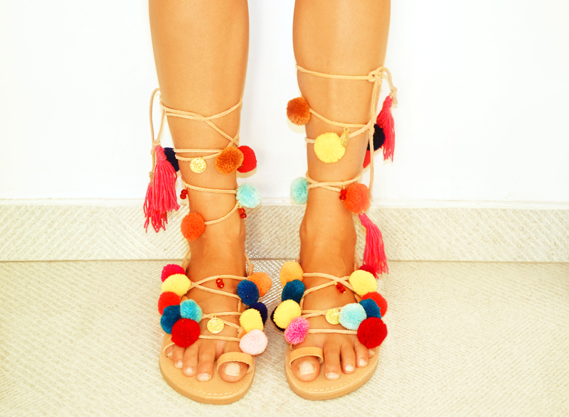 pom pom shoes