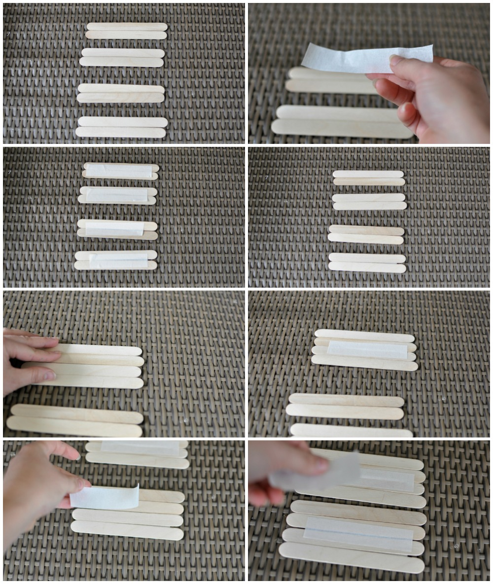Foldable Paddle Pop Stick Craft - no glue or paper required