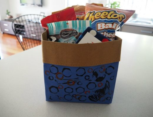dad's storage bag of treats for father's day