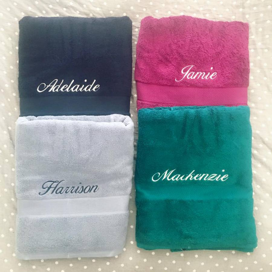 Christmas Gift Idea - Towel with names