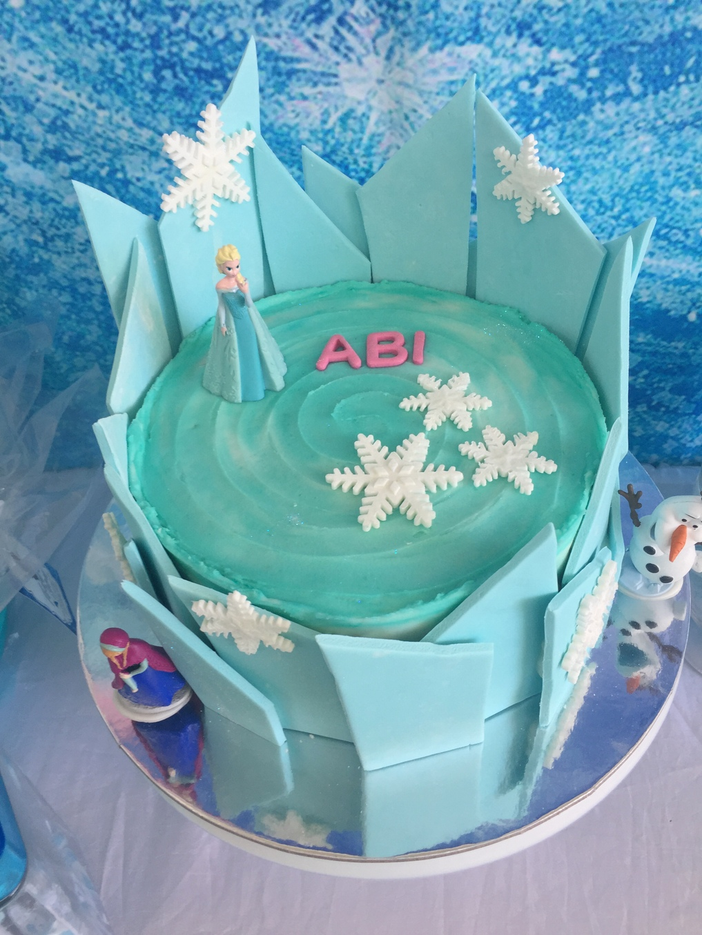 Frozen party ideas - cake idea