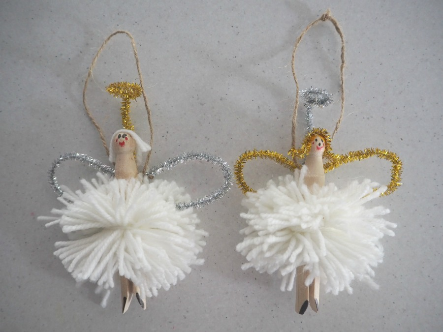 pom pom angel decoration