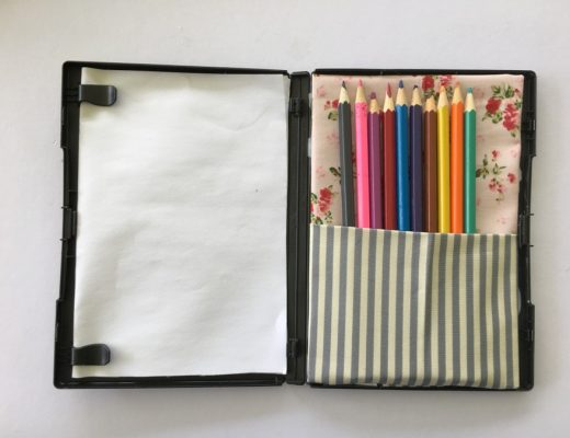 How to turn a DVD case into a travel colouring pack