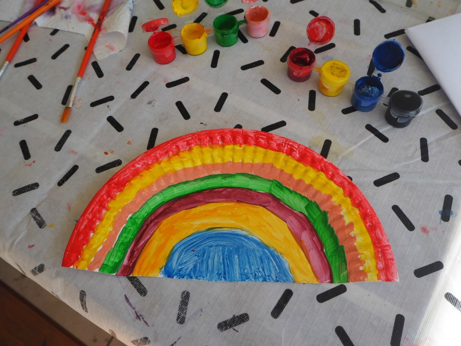 paper plate rainbows