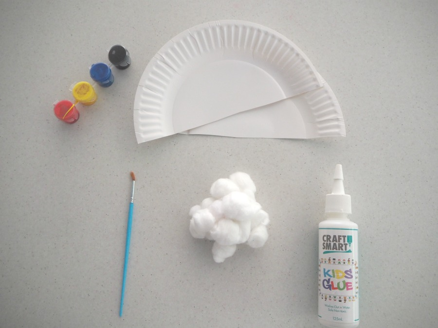 paper plate rainbow materials