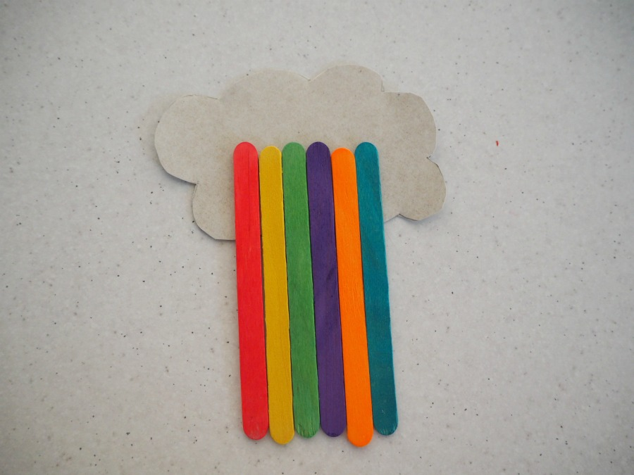 Rainbow Paddle Pop Stick Craft