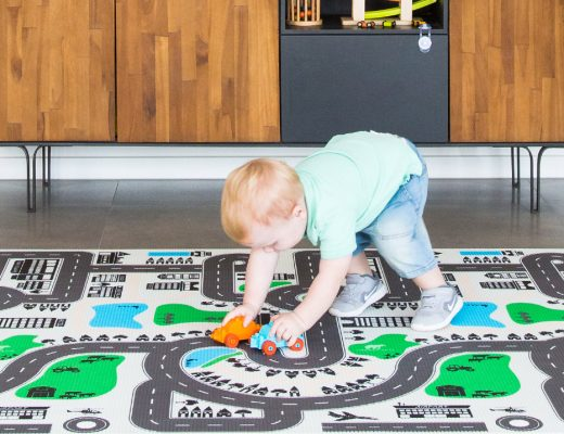 reversible play mat for kids that is stylish